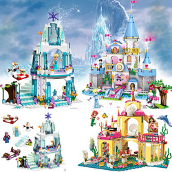 Toys Educational Model Building Bricks Undersea Palace Magical Ice Princess Girl Technic Designer Bricks Toys For Children #E