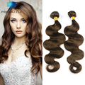 PREDAZZLE Fashion 8A Mink Brazilian Virgin Hair Body Wave 3 Bundles Brown Blonde Human Rosa Hair Weave Extensions Cabelo Humano