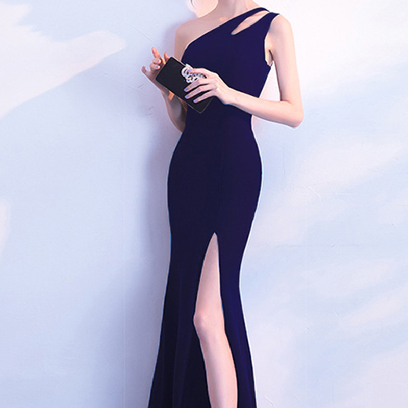 Image 5 - LPTUTTI One shoulder Split Graduating New For Women Elegant Date Ceremony Party Prom Gown Formal Gala Luxury Long Evening Dress-in Prom Dresses from Weddings & Events