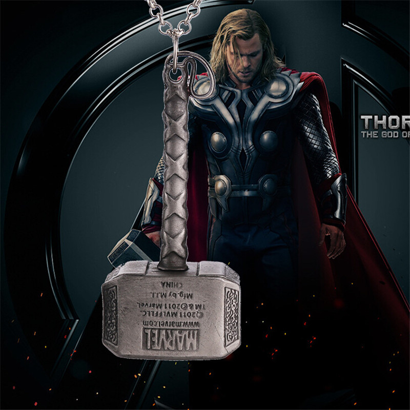 Hot Retro Alloy Pendant Necklace Thor Hammer Necklace Dark World Necklace Classic Movies Necklace For Men