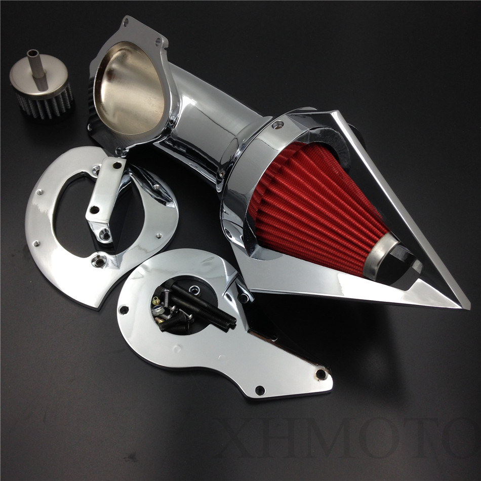 Aftermarket free shipping motorcycle parts Cone Spike Air Cleaner Kits for Honda Shadow 600 VLX600 VLX