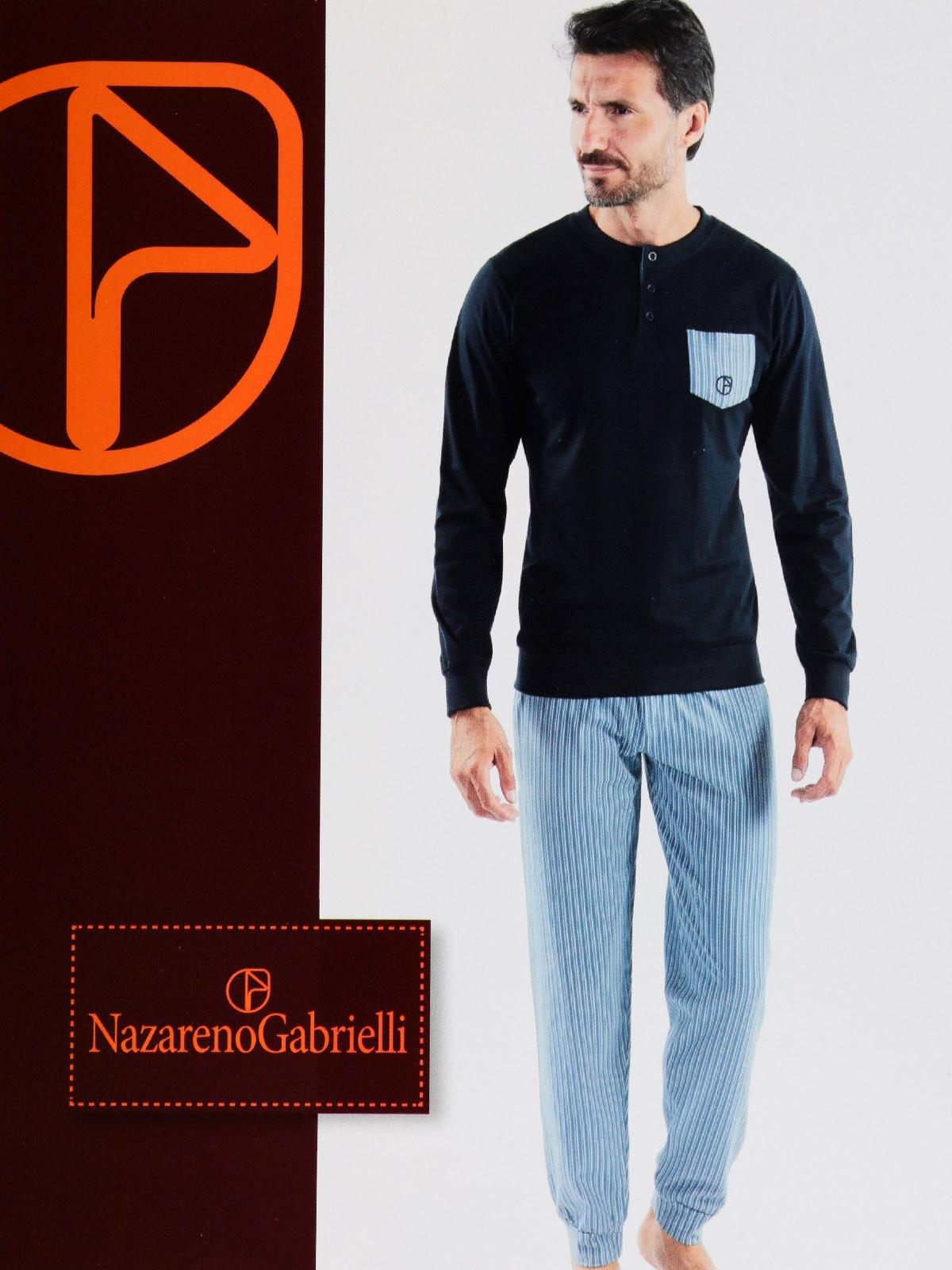 Pajamas With Pocket And Striped Pants