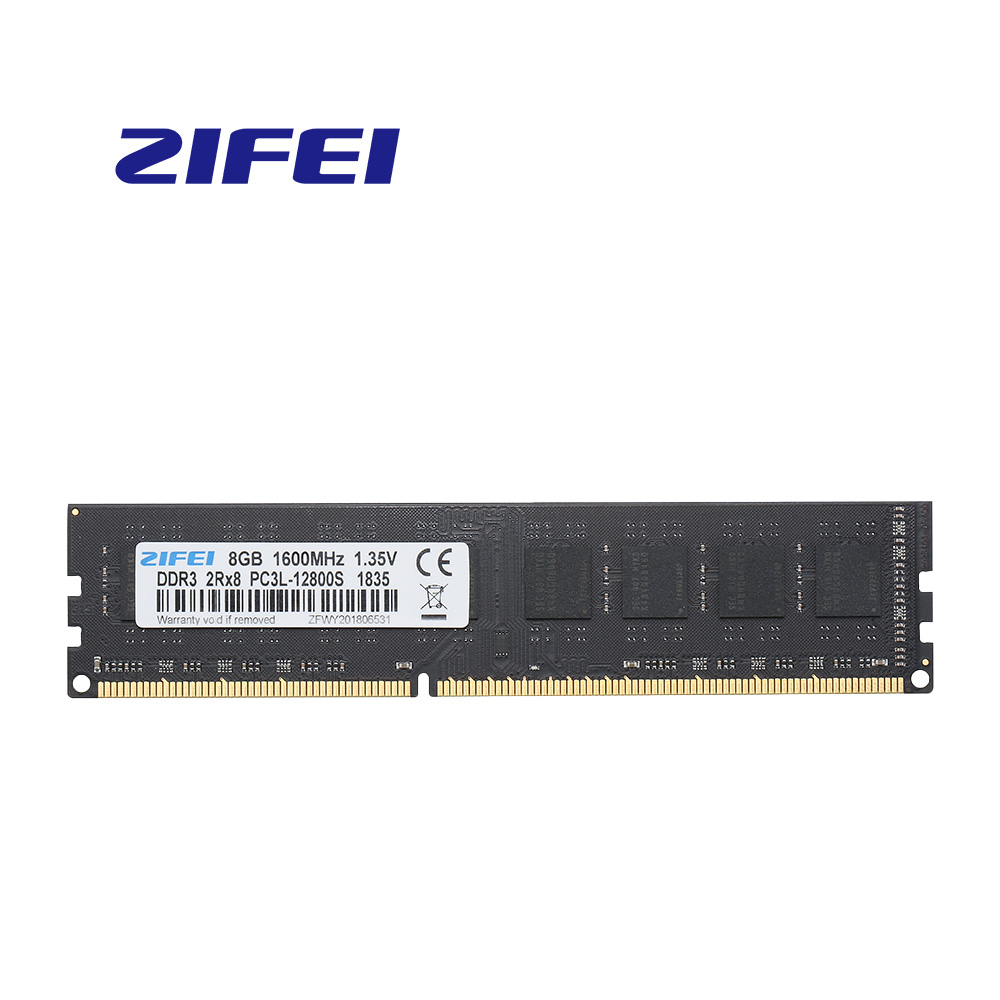 ZiFei  Ram  DDR3L  16GB(8GB*2PCS)   1333MHZ  1600MHZ 240Pin LO-DIMM  Fully Compatible  For Desktop