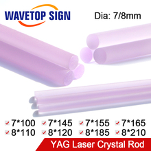 WaveTopSign, Machine à souder au Laser, tige de cristal, Machine de découpe Laser YAG, diamètre de 7mm/8mm, longueur 100 210mm