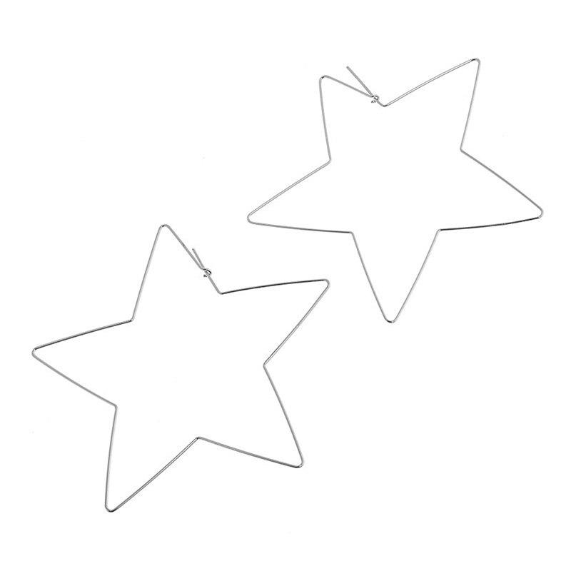 ES541-Grande-Em-Forma-de-Estrela-Brincos-Simplicidade-Fio-De-Cobre-Handmade-Brinco-para-As-Mulheres (3)