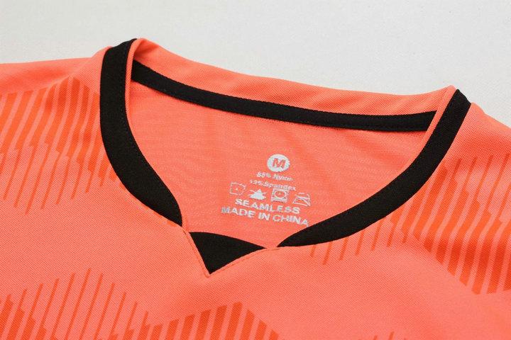 Orange Boys Kids Training T-shirts children sets football kits soccer team jersey Sports Athletic wear Running Size XXXS-M A100