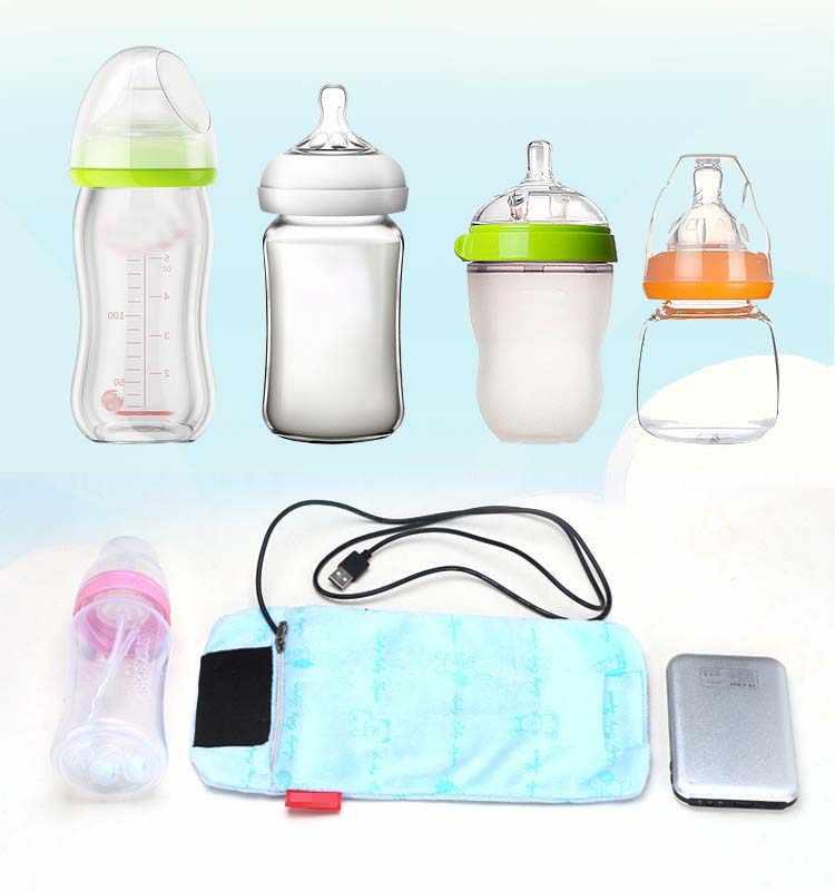 ขวดยูเอสบีสำหรับให้อาหารเครื่องทำความร้อนขวดกระเป๋าสำหรับรถเข็นเด็กทารกอาหารขวดนมสำหรับทารก Mamaderas De Bebe biberon