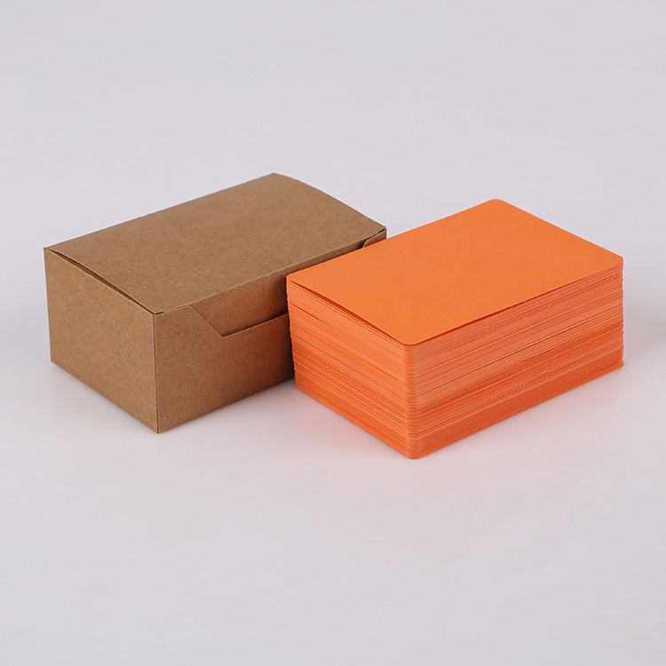 100 Pcs Diy Business Noted Mini Blank Multi Color Card Retro Style Paper Thick Black White Brown Pink Orange Paper Word Cards