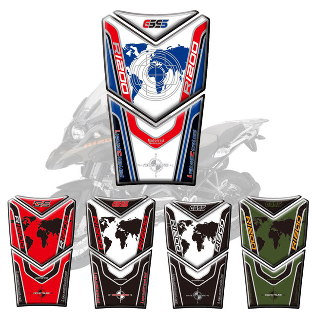 Motorcycle 3D Fuel Tank Pad Protective Stickers Decals For BMW R1200GS Adventure 2014-2017