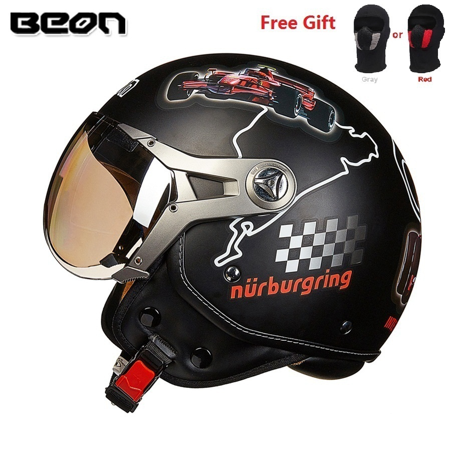 Free shipping 1pcs DOT 3/4 Open Face Helmet Motorcycle Cruiser Scooter Cafe Racer Retro Vintage Casco Motorcycle Helmet