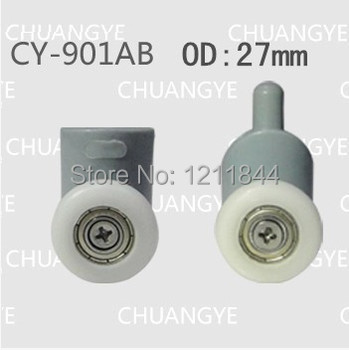 rollers for shower shower roller   OD :27mm doors wheel pulley  up roller+down roller free shipping 8 shower door rollers runners wheels pulleys diameter of the wheel 20mm 27mm shower room pulley