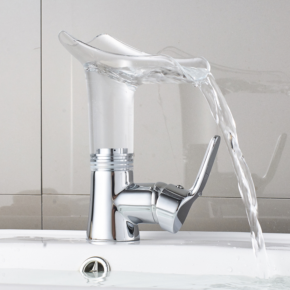 Basin Faucets Waterfall faucet for Bathroom Basin Mixer Tap Single Handle Sink Mixer Tap Deck Mounted Bathroom Torneiras 855013