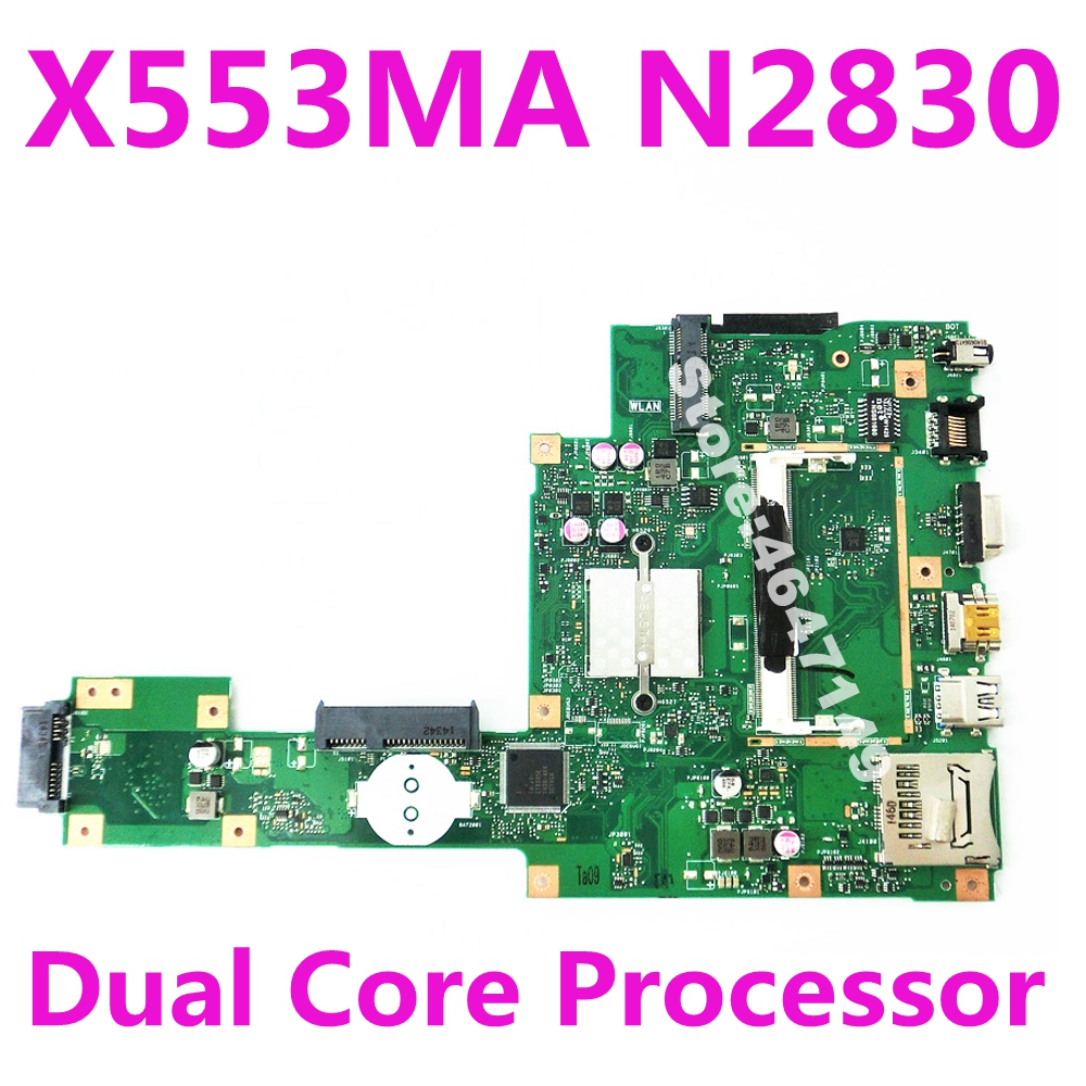 X553MA N2830 Dual Core Mainboard REV 2.0 For Asus  A553M D553M F553M F553MA K553M X503M Laptop Motherboard DDR3 100% Tested