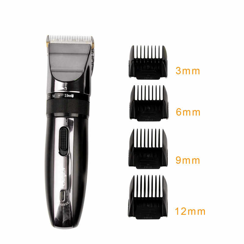 Hair Trimmer Clipper Electric Shaver Beard Trimmer Professional Rechargeable Haircut Titanium Ceramic Blade Clipper Men