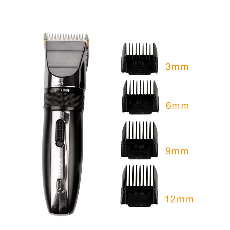 Hair Trimmer Clipper Electric Shaver Beard Trimmer Professional Rechargeable Haircut Titanium Ceramic Blade Clipper Men Electric shaver 1ef722433d607dd9d2b8b7: China|Russian Federation