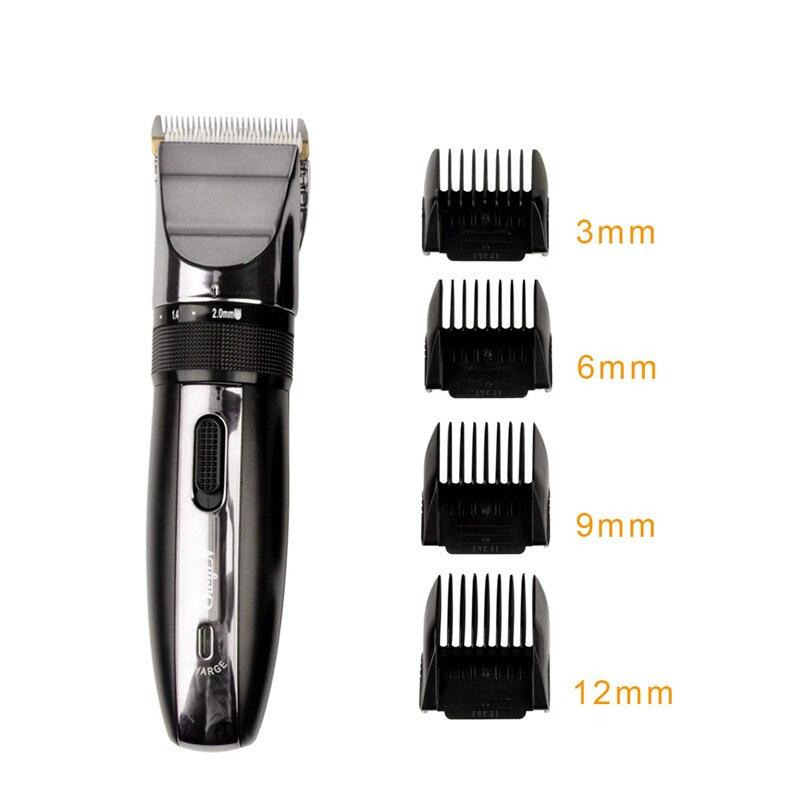 Trimmer Clipper cabelo Recarregável Barbeador Elétrico Aparador de Barba Profissional Corte de Cabelo Lâmina de Titânio Cerâmica Clipper Homens