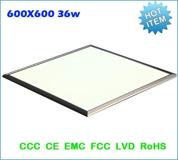 Modern led panel ceiling lamps lights 600x600MM square led panel lights 36W AC85-265V 2PCS/lot Free Shipping 150pcs square led panel light 600x600 mm smd3014 40w 60x60 ceiling lights aluminum focus led