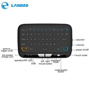 Image 3 - YENI Mini H18 Kablosuz Klavye Ile 2.4G Taşınabilir Klavye Touchpad Fare Windows Android/Google/Akıllı TV linux Windows Mac