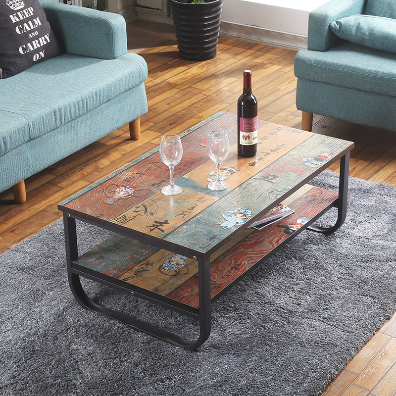 Vintage Apartment Metal Frame And MDF Board Simple Living Room Coffee Table  Tea Table In Coffee Tables From Furniture On Aliexpress.com | Alibaba Group