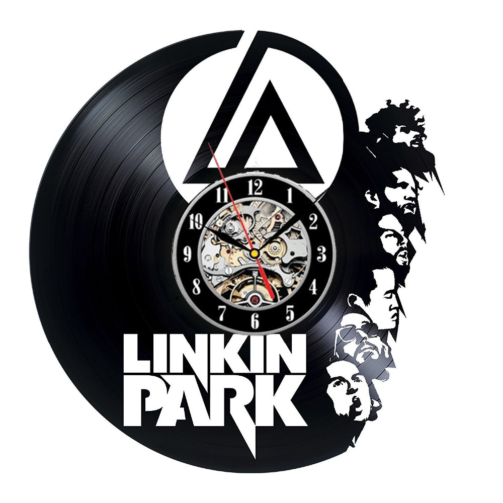 Linkin park vinyl record wall clock get unique garage wall decor linkin park vinyl record wall clock get unique garage wall decor gift ideas for boys and girls rock unique modern art in wall clocks from home garden on amipublicfo Images