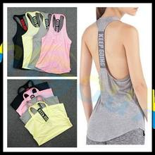 summer women Gym sports vest Sleeveless shirt Fitness running Clothes sexy Tank tops workout Yoga singlets