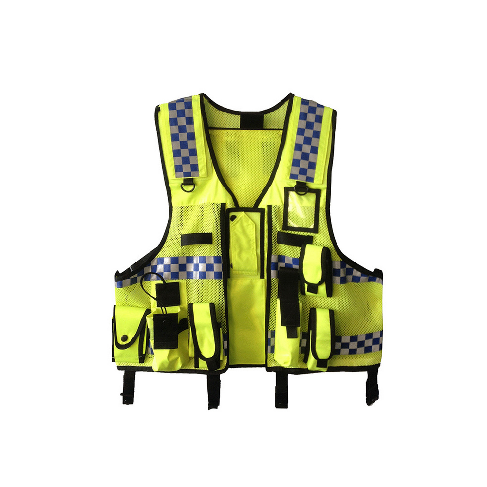 High Visibility Reflective Men Women Breathable Safety Vest with Pockets Traffic Protective Workwear(China)