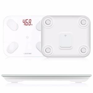 Image 2 - GASON S4 مقياس الدهون في الجسم الطابق العلمية الذكية الإلكترونية LED الوزن الرقمي الحمام التوازن بلوتوث التطبيق أندرويد أو IOS