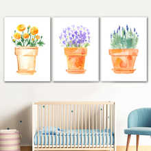 Watercolor Flower Plant Wall Art Canvas Painting Nordic Posters And Prints Pictures For Living Room Scandinavian Home Decor