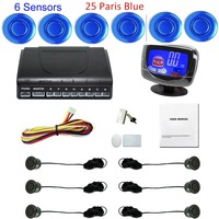 free shipping 6 Sensors 44 Colors for choice Car LCD display monitor Parking Assistance Backup Radar Sensor auto vehicle buzzer