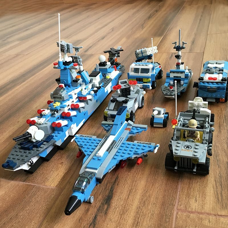 6in1 1233pcs Compatible LegoiNGs Blue Whale Battle Cruiser Building Blocks Model DIY Bricks Classic children Toys Birthday Gifts6in1 1233pcs Compatible LegoiNGs Blue Whale Battle Cruiser Building Blocks Model DIY Bricks Classic children Toys Birthday Gifts