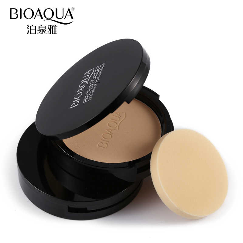 BIOAQUA Face BASE Mineral Pressed Powder แต่งหน้า Matte คอนซีลเลอร์ Smooth Oil Control Contour Palette เครื่องสำอาง Finishing Powder