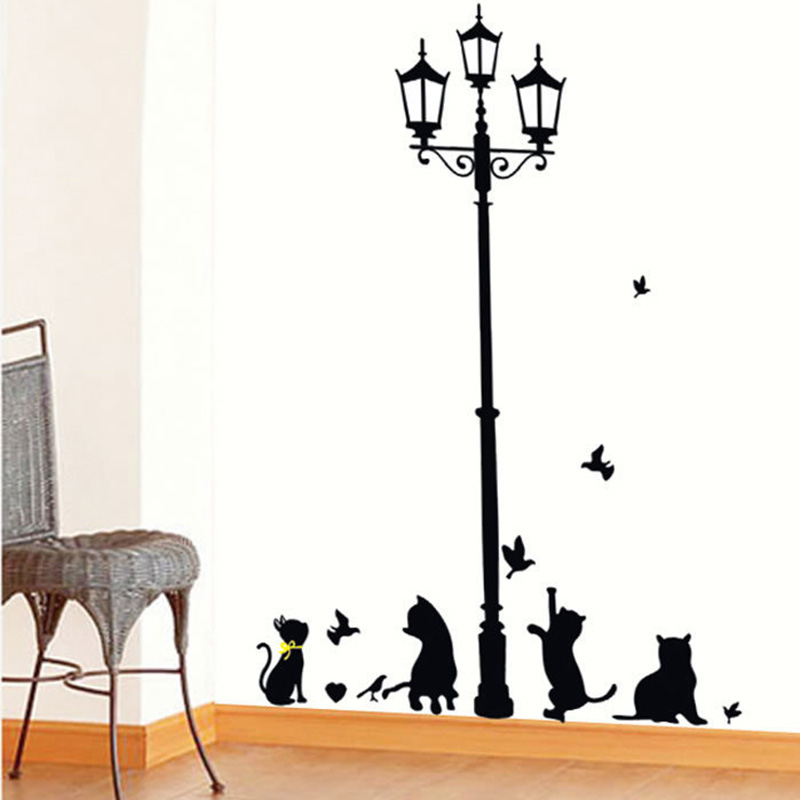 1set diy black light birds cat play living room home decoration