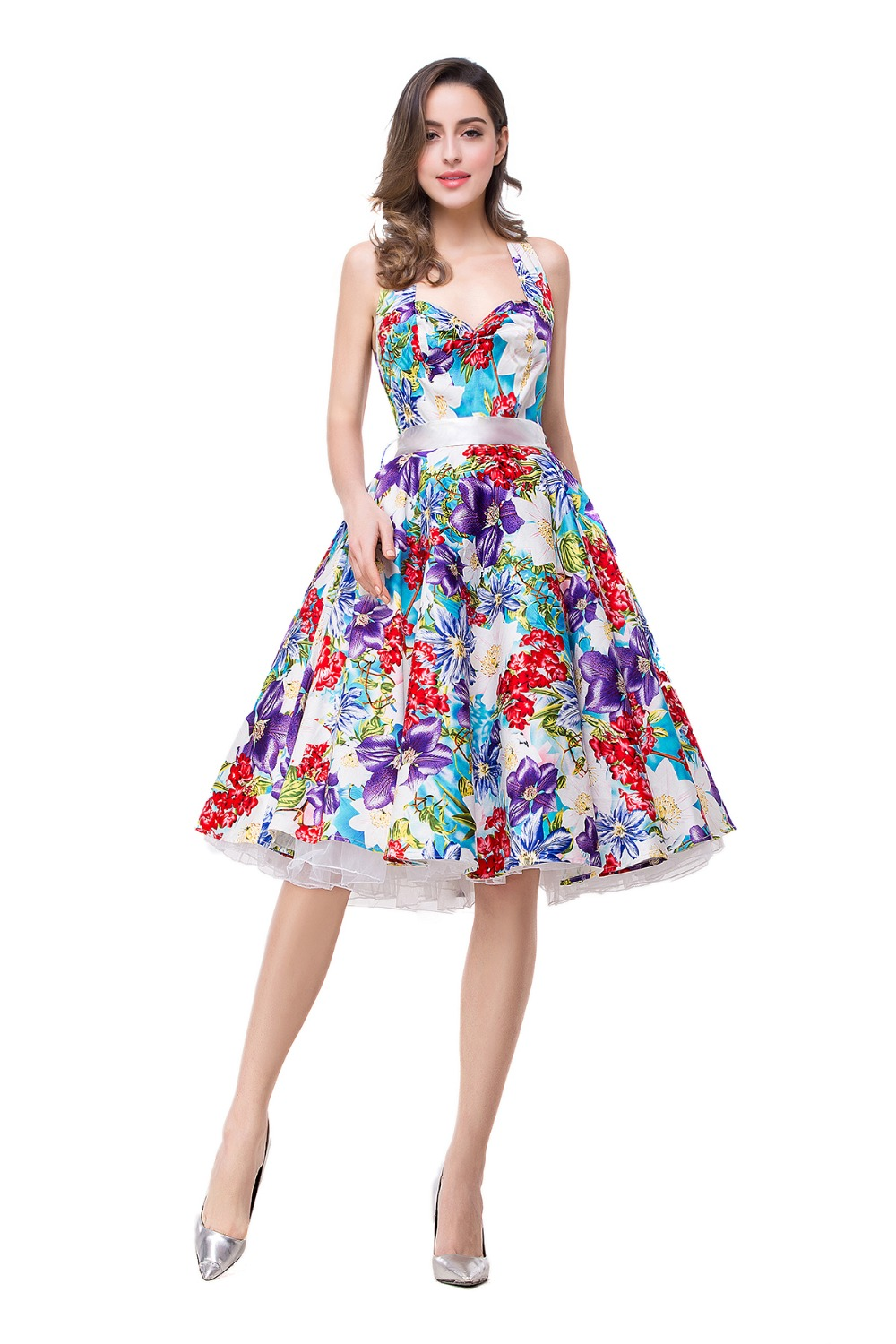 Popular Floral Print Cocktail Dress-Buy Cheap Floral Print ...