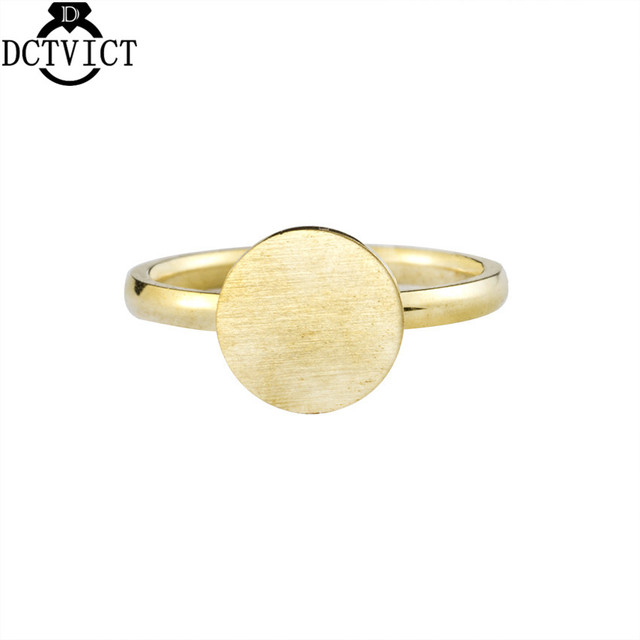 Simple Round Finger Ring Stainless Steel Rings Women Men Geometric Jewelry Rose Gold Aneis Feminino Wedding Gifts