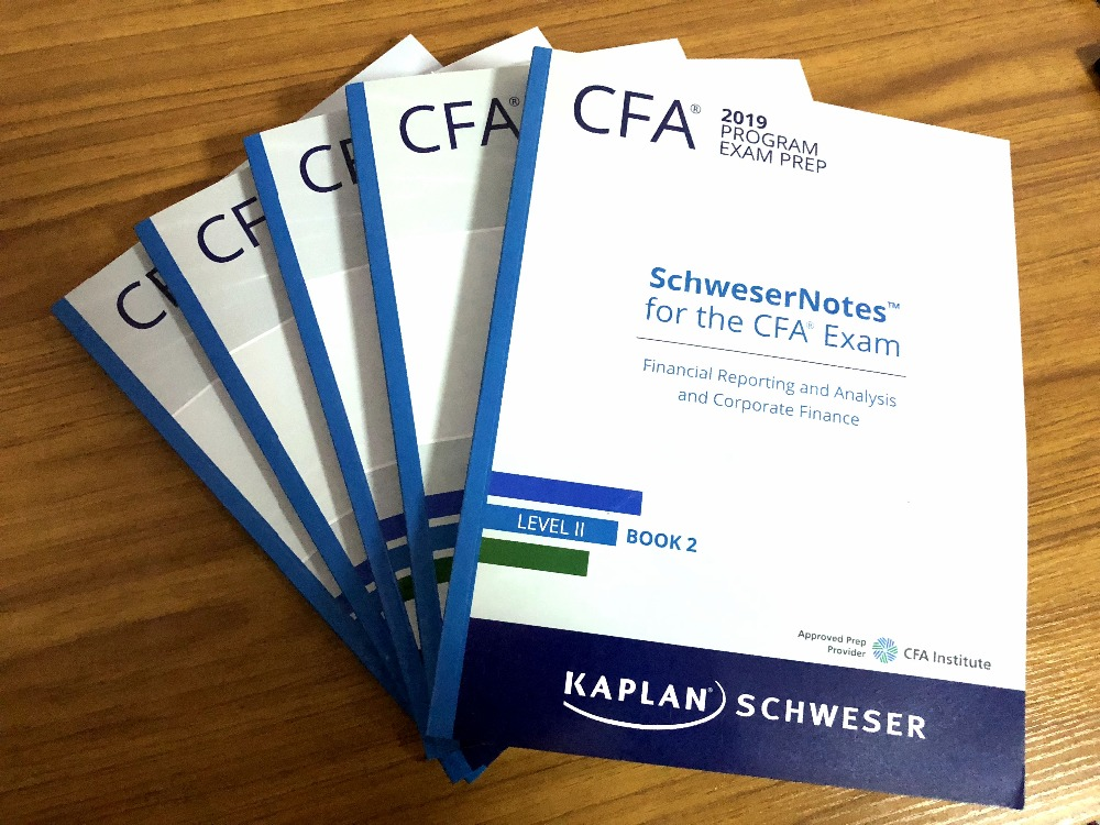 2019 Official New CFA Level 2 II SchweserNotes Books 1-5 + 2
