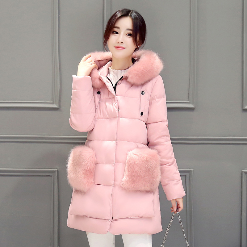 New Plus Size Winter Women Down Cotton Jacket Long Thick Parkas Female Hooded Cotton Padded Fashion