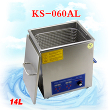 1 PC 110V/220V KS-060AL  14L Ultrasonic cleaning machines circuit board parts laboratory cleaner/electronic products etc