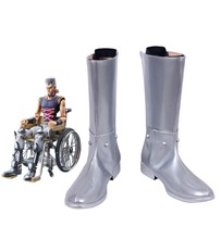 JoJos Bizarre Adventure Jean Pierre Polnareff Cosplay Boots Shoes Custom Made
