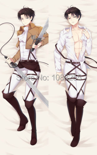 Dakimakura Shingeki no Kyojin Eren & Levi Hugging Body Pillowcase Pillow Cover