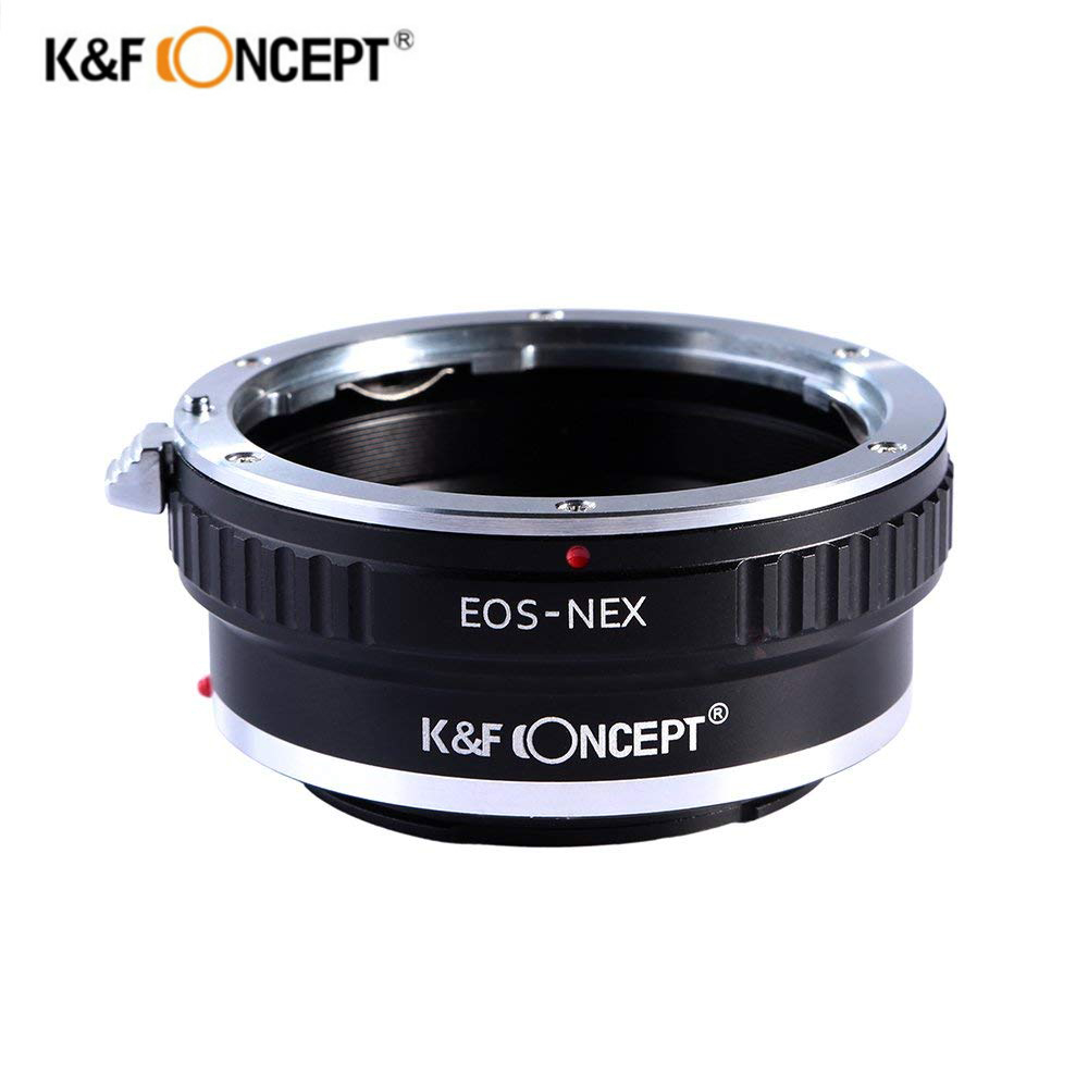 K&F Concept Lens Mount Adapter For Canon EOS Lens to Sony Alpha Nex E-mount Camera Adapter For Sony NEX-3 NEX-5 NEX-5N NEX-7 VG fotga tilt adapter ring for canon lens to sony adapter for nex 3 nex 5 nex 7 nex 5c brass
