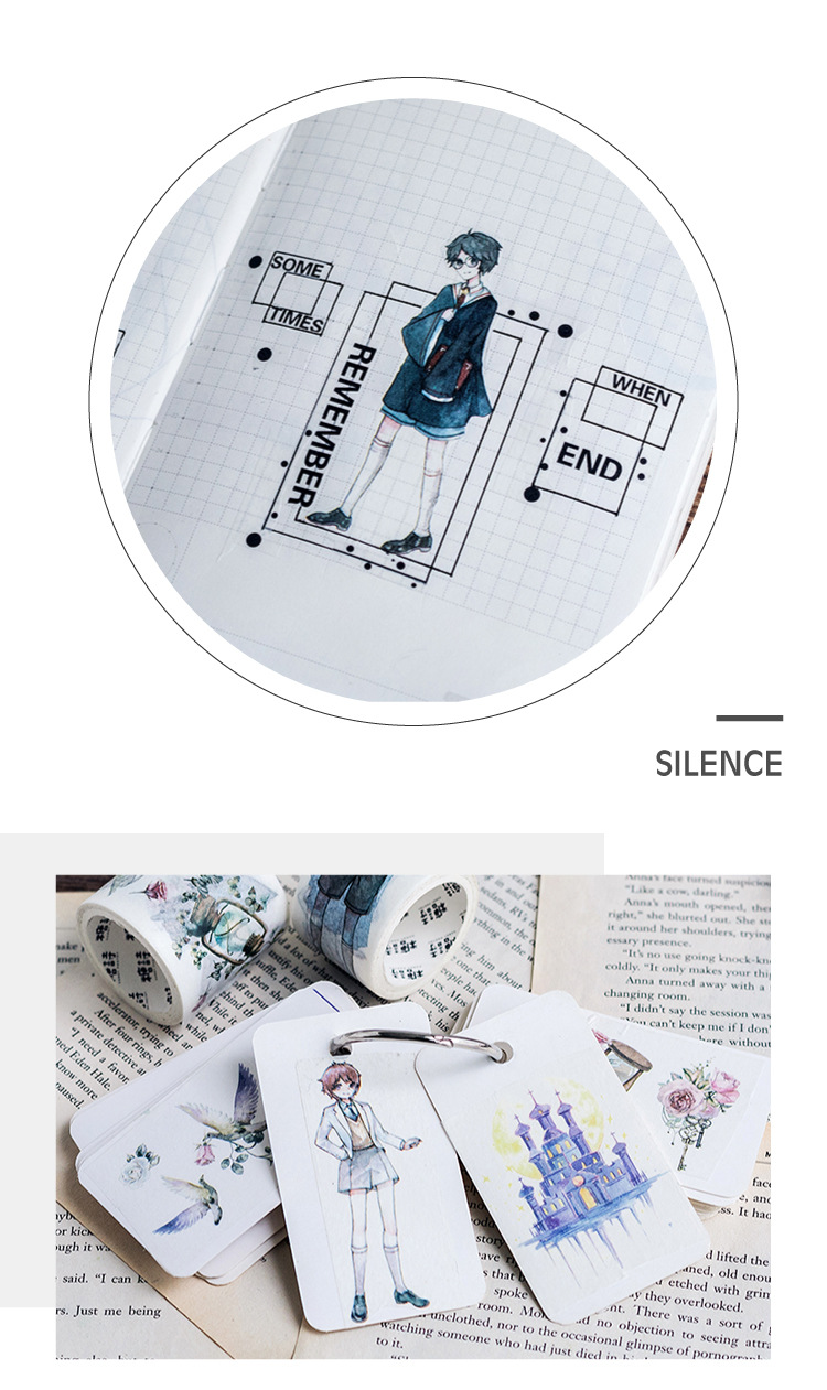 US $1 29 |NEW Magic School Castle motto Vintage messenger decoration washi  tape DIY planner scrapbooking diary album masking tape escolar-in Office