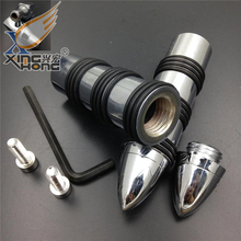 Aftermarket free shipping motorcycle parts Bullet Rocket Foot Pegs for Suzuki  Intruder 1400 Boulevard S83 C90 Marauder CHROMED