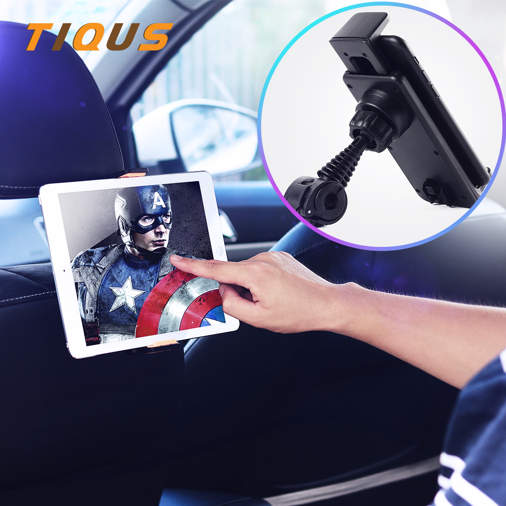 Car Seat Holder Mobile Phone Tablet Car Mount Holder Universal Back Seat Headrest Hanger Stand for Redmi Note 4x iPad Mini 2 3 4