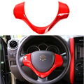 ABS Steering Wheel Decoration Cover for Suzuki Jimny Black Red Silver Chrome Matte Deco Kits