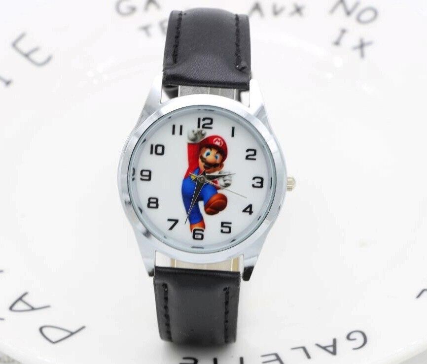 2017 Neue 1 Stücke Cartoon Super Mario Puppe Kinder Uhr Kinder Kinder Mädchen Jungen Studenten Quarz Armbanduhren.