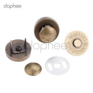 Image 2 - Dophee 10 sztuk 14/18mm magnetyczne Snap nity Stud zamknięcie zapięcie przyciski zapięcia 2 kolory dla DIY damski portfel torby ubrania