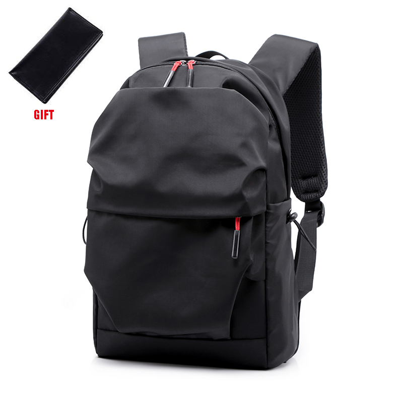 New Men Backpack for 15.0 Inches Laptop Back Pack Large Capacity Stundet Backpacks Pleated Casual Style Bag Water Repellent 2019 bag