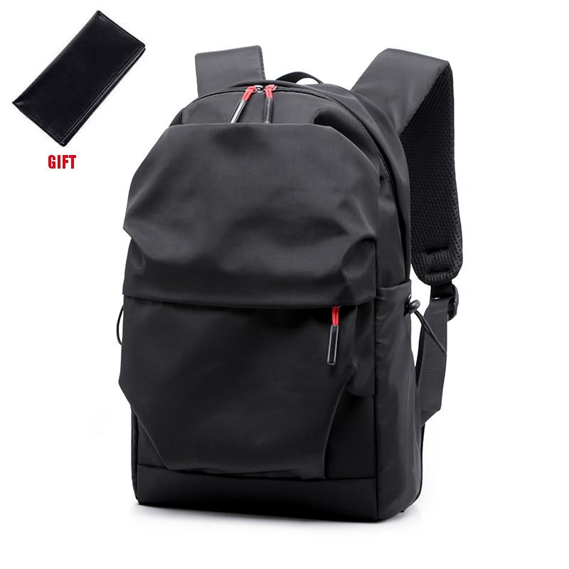 Novos homens mochila para 15.0 polegadas portátil de volta pacote grande capacidade stundet mochilas plissado estilo casual saco repelente água 2019