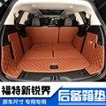Auto caso pad para FORD Focus Fiesta Mondeo Tránsito S-MAX Explorer maverick KUGA Escape caravana E150 coche lleno de cuero tronco estera