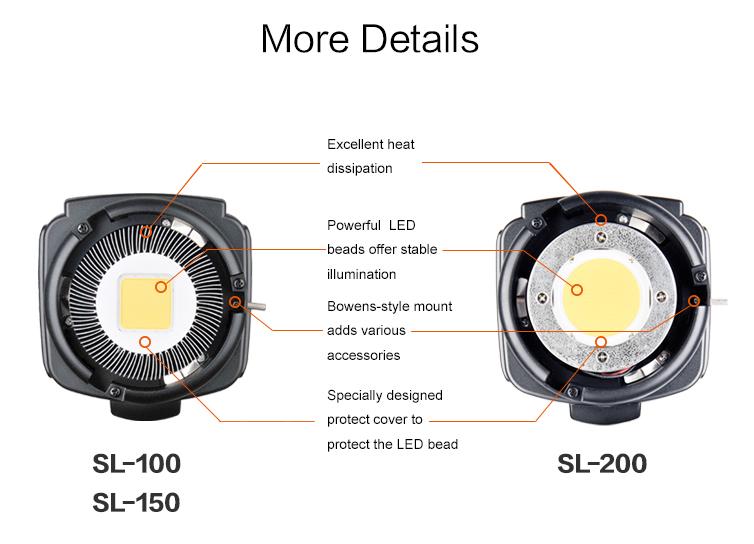 Godox SL-100 2400LUX Studio LED Continuous Video Light Bowens Mount (16)